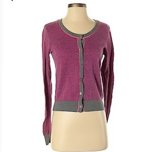 Cabi Cardigan womens sz L pink sweater button up